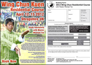 Link to Wing chun residential booking form